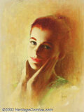 Original Illustration Art:Pin-up and Glamour Art, Rudy Garcia - Original Pin-up / Glamour Art (1965-1975).. Portraitof a Playboy Playmate of the Year, most likely from the l...