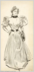Original Illustration Art:Mainstream Illustration, Charles Dana Gibson (1867-1944) Original Illustration (1890-1900)..Probably published as a magazine or book illustration.. ...