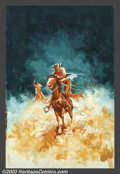 Original Illustration Art:Pulp, Pulp-like, Digests and Paperback Art, Joel Malmed - Attributed - Original Paperback Cover Art (c.1970)..Gouache on board, image size approximately 25.5 x 16.5. N...