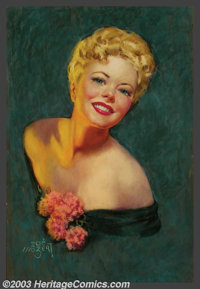Zoe Mozert (1907-1993) Original Pin-up / Glamour Art (1947). Published by the Brown & Bigelow Calendar Company...