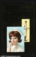 Original Illustration Art:Pulp, Pulp-like, Digests and Paperback Art, Rudy Nappi - Original Paperback Cover Art (c.1960).. MacFadden#35-125 - Nurse Hilary by Peggy Gaddis.. Gouache on board...(Total: 2 items Item)