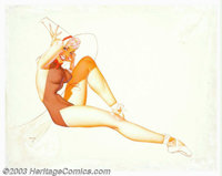 George Petty (1894-1975) Original Pin-up Art (1956). Published in Esquire magazine as part of a special portfolio layou...