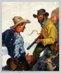 Original Illustration Art:Pulp, Pulp-like, Digests and Paperback Art, Jerome George Rozen (1895-1987) - Attributed - Original PulpPainting (1929).. Wild West Weekly September, 1929.. This w...