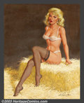 Original Illustration Art:Pin-up and Glamour Art, Arthur Sarnoff (1912-2000) Original Pin-up Art (1993).. Oil oncanvas, approximately 30 x 24. Signed and dated (93) lower ri...