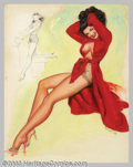 Original Illustration Art:Pin-up and Glamour Art, T. N. Thompson - Original Pin-up Art (c.1952).. Artist'sModel, published as a calendar, most likely by the Shaw-Barton... (Total: 4 items Item)