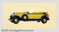 Original Illustration Art:Mainstream Illustration, Harry Timmins (1887-1963) Original Advertising Art (c.1932).. For a 1932 Lincoln.. Oil on aluminum, framed (19 x 35), sight ...