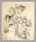 Original Illustration Art:Mainstream Illustration, Raeburn Van Buren (1891-1987) Original Illustration (1933)..Published as a nationally syndicated newspaper-section cover or...