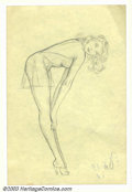 Original Illustration Art:Pin-up and Glamour Art, Alberto Vargas (1896-1982) Original Pin-up Sketch (c.1950).. Drawnby Vargas as part of his early conceptions for the Vargas...