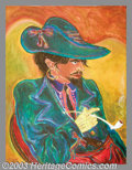 Original Illustration Art:Mainstream Illustration, S. Clay Wilson - Original Illustration (1961).. Titled on verso:Swarthy Gentleman Stede Bonnet Relaxing With A Smoke In H...