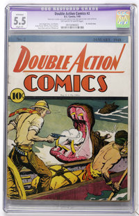 Double Action Comics #2 (DC, 1940) CGC Apparent FN- 5.5 Slight (P) Off-white to white pages