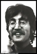 Music Memorabilia:Photos, Beatles - Music Memorabilia Photo, Signed Dezo Hoffman Photo ofJohn Lennon. Photographer Dezo Hoffman is the man most close...