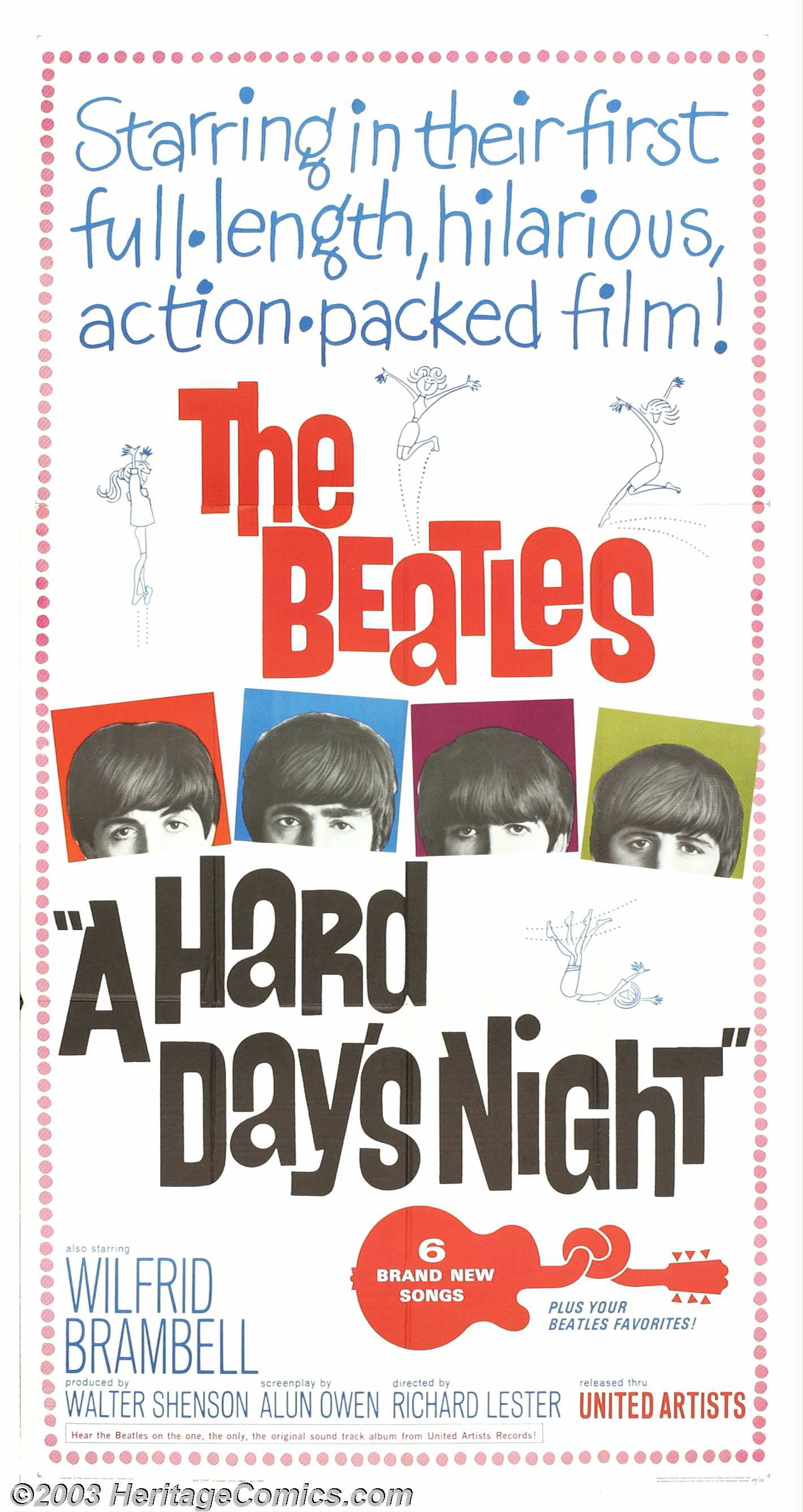A Hard day/'s night The Beatles #2 movie poster print