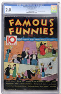 Platinum Age (1897-1937):Miscellaneous, Famous Funnies (Series 1) #1 (Eastern Color, 1934) CGC GD 2.0 Light tan to off-white pages....