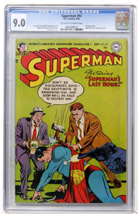 Superman #92 (DC, 1954) CGC VF/NM 9.0 Off-white to white pages