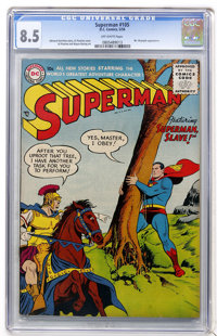 Superman #105 (DC, 1956) CGC VF+ 8.5 Off-white pages