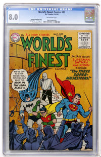World's Finest Comics #82 (DC, 1956) CGC VF 8.0 Off-white pages