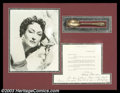 "Hollywood Memorabilia:Autographs, Gloria Swanson - Autographed Letter. Gloria Swanson, bestremembered for her role as Norma Desmond in ""Sunset Boulevard,""wa..."