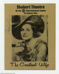 "Memorabilia:Miscellaneous, Ingrid Bergman - Autographed program, ""The Constant Wife"" (1975). Ingrid Bergman (1915-1982) was truly one of the most famou..."