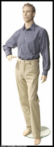 "Hollywood Memorabilia:Costumes, Jim Carrey - Screen-Worn Movie Costume from ""Bruce Almighty"". Presented here is a two-piece outfit consisting of men's khaki..."