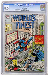 World's Finest Comics #76 (DC, 1955) CGC VF+ 8.5 Off-white pages