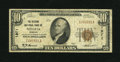 National Bank Notes:Missouri, Sedalia, MO - $10 1929 Ty. 1 The Citizens NB Ch. # 1971. This bankis much scarcer in small than in large. A few flyspec...