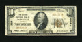 National Bank Notes:Kentucky, Danville, KY - $10 1929 Ty. 1 The Citizens NB Ch. # 3381. Smallsize $10 notes only from this Boyle county issuer. Fin...