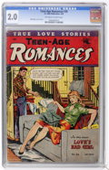 Golden Age (1938-1955):Romance, Teen-Age Romances #36 (St. John, 1954) CGC GD 2.0 Off-white towhite pages....