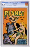 Golden Age (1938-1955):Science Fiction, Planet Comics #40 (Fiction House, 1946) CGC FN 6.0 Off-white towhite pages....