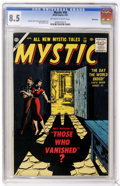 Golden Age (1938-1955):Horror, Mystic #58 Bethlehem pedigree (Atlas, 1957) CGC VF+ 8.5 Off-whiteto white pages....