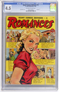 Golden Age (1938-1955):Romance, Giant Comics Edition #15 Romances (St. John, 1950) CGC VG+ 4.5Off-white to white pages. ...