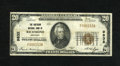 National Bank Notes:Kentucky, Richmond, KY - $20 1929 Ty. 1 The Southern NB Ch. # 9832. This rareinstitution lists only eight 1929 notes in the Kelly...