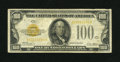 Small Size:Gold Certificates, Fr. 2405 $100 1928 Gold Certificate. Fine-Very Fine.. What appears to be a solid evenly circulated gold certificate has actu...