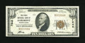 National Bank Notes:Pennsylvania, Oakmont, PA - $10 1929 Ty. 1 The First NB Ch. # 7642. The only real fold is a hard horizontal fold which results in hand...