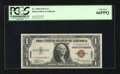 Small Size:World War II Emergency Notes, Fr. 2300 $1 1935A Hawaii Silver Certificate. PCGS Gem New 66PPQ.. This is a beautiful Hawaii Ace that is just a whisker from...
