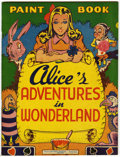 Golden Age (1938-1955):Miscellaneous, Educational Projects Coloring Book #nn Alice's Adventures in Wonderland - Vancouver pedigree (Educational Projects, Inc., circ...