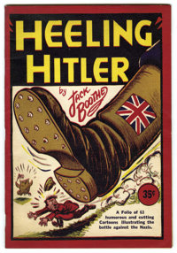 Heeling Hitler by Jack Boothe (circa 1941). Staple-bound booklet of Anti-Nazi editorial cartoons by Jack Boothe of the V...
