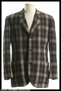 "Hollywood Memorabilia:Costumes, Steve Martin - ""The Jerk"" Original Motion Picture ScreenWorn-Jacket. Offered here is the custom-created men's plaidsportco..."