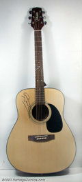 Music Memorabilia:Instruments, Graham Nash - Signed Guitar This is a beautiful blonde mapleTakamine acoustic guitar formerly in the possession of legendar...