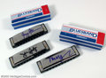 Music Memorabilia:Instruments, Harmonica Collection A superb collection of three silverautographed harmonicas, from three of music's most admired andresp...