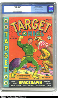 Target Comics #7 Mile High pedigree (Novelty Press, 1940) CGC NM+ 9.6 White pages. The fact that this issue is noted as...
