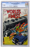 Silver Age (1956-1969):Superhero, World's Finest Comics #80 (DC, 1956) CGC VF/NM 9.0 Cream to off-white pages....