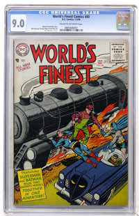 World's Finest Comics #80 (DC, 1956) CGC VF/NM 9.0 Cream to off-white pages