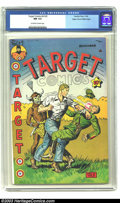 Golden Age (1938-1955):Miscellaneous, Target Comics V5#5 Mile High pedigree (Novelty Press, 1944) CGC NM 9.4 Off-white to white pages. The Cadet comes face-to-fac...