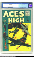 Golden Age (1938-1955):Adventure, Aces High #5 Gaines File pedigree 1/12 (EC, 1955) CGC NM+ 9.6 Off-white to white pages. Artist George Evans gets his day in ...