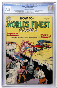 World's Finest Comics #72 (DC, 1954) CGC VF- 7.5 Cream to off-white pages