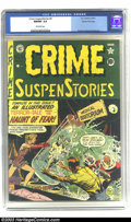 Golden Age (1938-1955):Horror, Crime SuspenStories #4 Gaines File pedigree 8/11 (EC, 1951) CGCNM/MT 9.8 Off-white pages. This cover is similar to that on ...