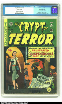 Crypt of Terror #17 Gaines File pedigree 1/10 (EC, 1950) CGC NM+ 9.6 Off-white to white pages. The best known of the EC...
