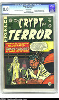Golden Age (1938-1955):Horror, Crypt of Terror #19 (EC, 1950) CGC VF 8.0 Off-white pages. Here'san absolutely beautiful copy of the last issue of this tit...