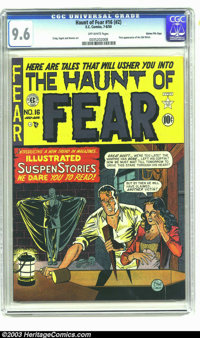 The Haunt of Fear #16 (#2) Gaines File pedigree 1/9 (EC, 1950) CGC NM+ 9.6 Off-white pages. The Old Witch makes her firs...