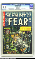 Golden Age (1938-1955):Horror, The Haunt of Fear #16 (EC, 1952) CGC NM 9.4 Off-white pages. Thisis exactly the kind of cover your mother never wanted you ...